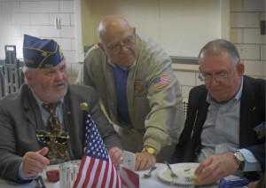Veteran's enjoying lunch