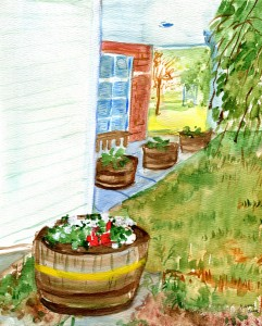 Watercolor artwork by Nancy Bauer