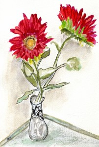 Watercolor by K. Diane Hammond in our Watercolor Workshop