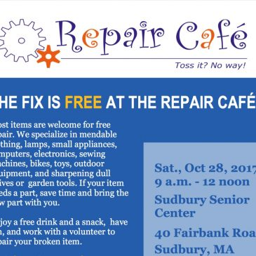 Repair Cafe: October 28th !