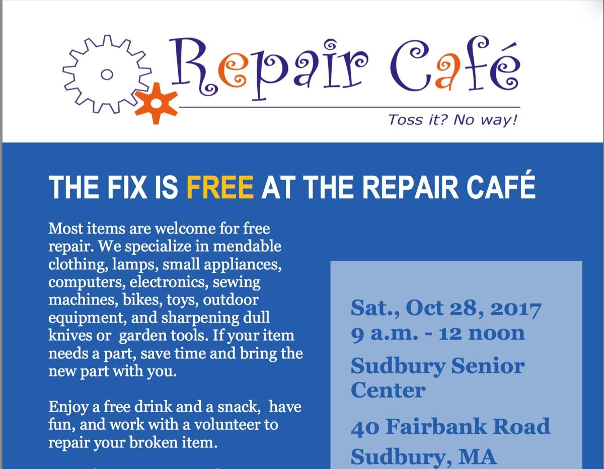 Repair Cafe: October 28th !